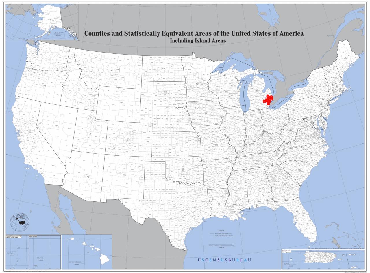 Detroit Mapa De Localização Detroit Localização No Mapa - Mapa de michigan